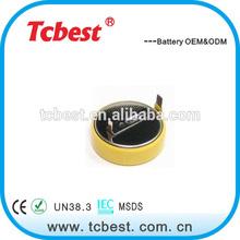 wih ROHS CE 3.6v button cells lir2450