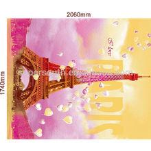 2014 summer new design Eiffel tower in Paris flannel fleece blanket