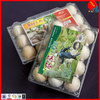 PET clear egg packing tray for marketing