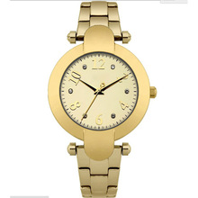 couple lover watch stainless steel strap gold plated wrist watch