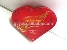 Rose heart shape chocolate box