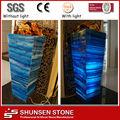 azul translúcida artificial laje de mármore de pedra ônix preço