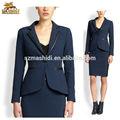 100% de lana de ajuste fino de las señoras traje de oficina estilos de diseño de negocios para las mujeres camisa de adaptarse a los modelos