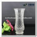 Claro decorativo de vidrio tallo florero para la flor arrangment
