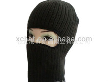 winter knitted black ski mask hat knitting pattern