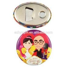 Profissional atacado Round / Oval Festival personalizado Handmade Manufactory qualidade magnética emblema da lata para a festa / promoção