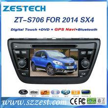 ZESTECH 7 inch 2 din car dvd player for Suzuki SX4 2014 car dvd gps with navigation system