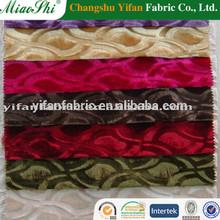 keqiao wholesale100%polyester knitting embossed velvet for sofa /curtain/upholstery fabric
