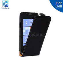 Wholesale phone case Slim Leather Flip case cover for nokia lumia 720 custom phone covers