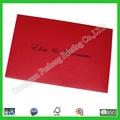De impresión en blanco de la boda invitaciones con tarjeta black+red de la cinta