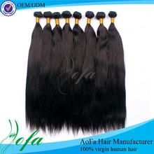 Various payment virgin straight natural brazilian hair pieces