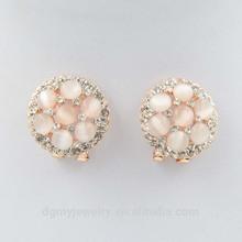 fancy seed bead moonstone earring gold dragon earring