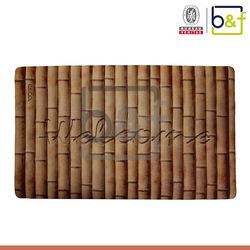 Thin rubber mini size non woven bamboo mats