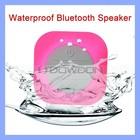 Blue Mini Waterproof Portable Shower Mic Car Suction Wireless Bluetooth Speaker