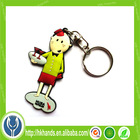Cheap custom made rubber keychains