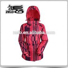 Lady's printed functional windbreak jacket fleece