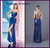 Drop Shipping Elegant One-Shoulder Brilliant Rhinestone Full Beaded Turkish Evening Dresses