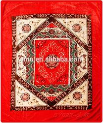 2015 hot selling super soft plush red crochet blanket/super soft crochet adult blanket