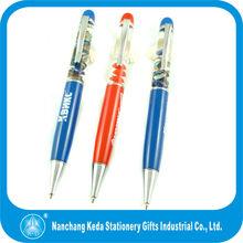 3d Metal Liquid pen/Liquid floating pen /floating pen for promotion 2014