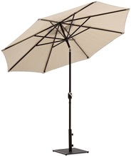 Aluminum 10 feet outdoor Patio Umbrella with Auto Tilt and Crank