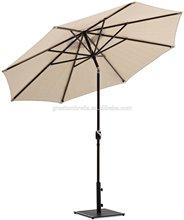 Aluminum 10 feet outdoor Patio Umbrella with Auto Tilt and Crank