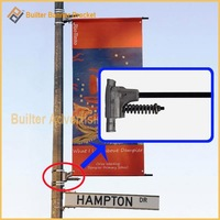 spring loaded advertising banner clamp