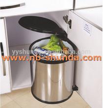 trash bin automatic corrugated plastic recycle bin stainless steel round bin