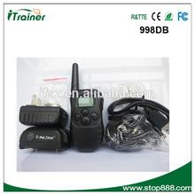 dog beeping big lcd display collar dog training 100 level shock collar 998DB