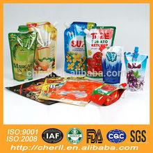 soft plastic printed laminated packing materials juice printed packaging bag