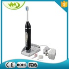 Rechargeable electric sonic travel toothbrush