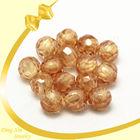 5mm semi precious round champagne gemstone beads