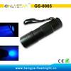 GS-8085 395nm urine detector black light 12 uv flashlight