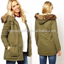 2014 garment factory women coat/maternity winter parka coats