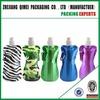 Environmental Flexible Collapsible Foldable Reusable Water Bottles Bag Colors