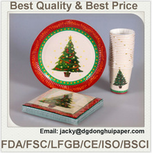 Christmas Tree Festival Printed Paper Plates