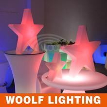 Plastic Snow Color Light LED Christmas Decoration