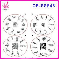Nail art image formwork,duplex steel XXLnail plates,nail art image formwork
