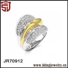 Nice Designer Two Tone Zircon 925 Silver Walmart Engagement Rings