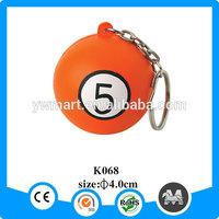 China wholesale plastic PU foam ball keychain