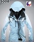 Womens waterproof windproof winter ski snowboard jacket with hood for lady S08