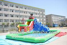 inflatable floating water slide, aqua slide ,lake inflatable water slides