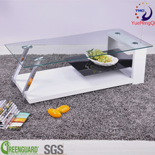 modern glass and stainless steel coffee table luxury living room furniture