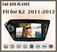 Fit for KIA K2 2011 2012 car audio gps player with reversing camera bluetooth analog tv