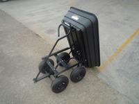 Four wheels electric plastic dump garden Cart