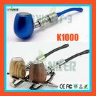 2014 popular e cigarette K1000 wooden & metal vaporizer smoking pipe