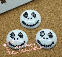resin flat back white skull for Halloween Resin Cabochons 22mm