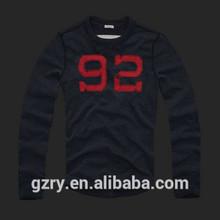 Wholesale men fashion name brand t-shirts long-sleeved