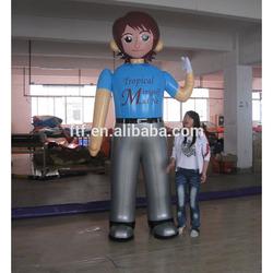 inflatable tall boy model/pvc inflatable boy doll model