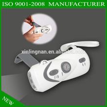 New Wind Up 3 LED dynamo Flashlight Hand Crank Torch Green Power No Batteries