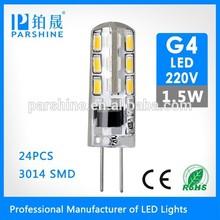 Small Size Epoxy Resin Glue G4 220V 1.5W Led Light